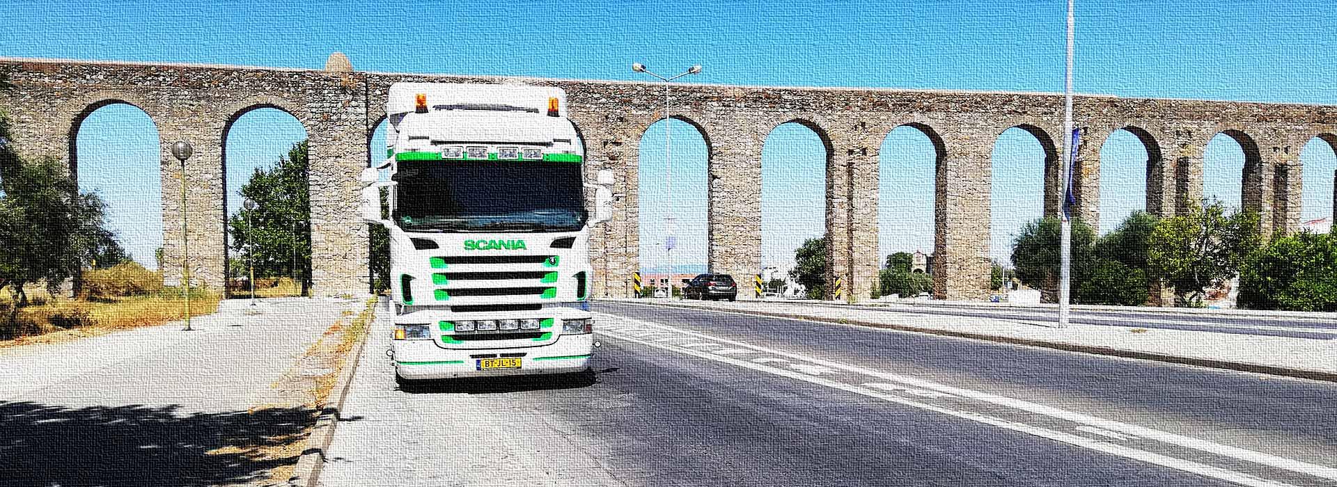vrachtauto naar Portugal